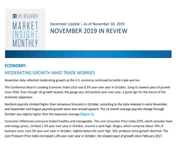 Market Insight Monthly   November 2019